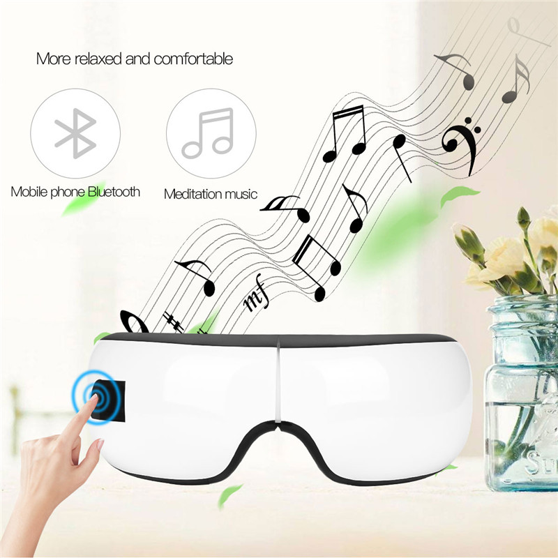 Electric Heating Air Pressure Bluetooth Music Foldable Eyes Massager Mask Therapy SPA Instrument 3 Modes Eye Care Massage Tool цена