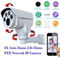 Hi3516c + sony 322 full hd 1080 p ptz ip câmera de segurança ao ar livre 4 xauto zoom 2.8-12mm varifocal lente 2.0mp ir cut cctv camera