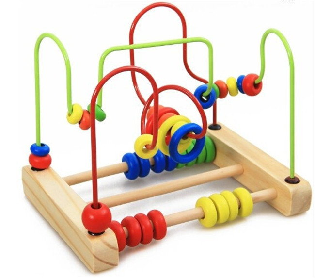 New wooden toy Bead Maze Roller Coaster Kids Children Free shipping in Blocks from Toys Hobbies