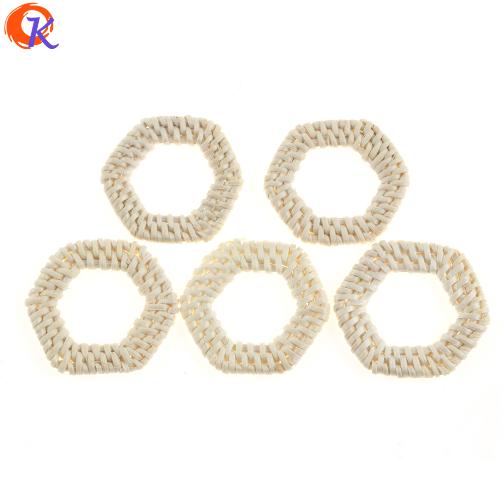 Cordial Design 20Pcs 41*45MM Jewelry Findings/Hand Made/Embellishment/Hollow Hexagon Shape/Bamboo Rattan/Earring Accessories