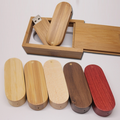 Ny Pen Drive Wooden Usb Trä Present Box 32GB 64GB USB 3.0 Flash Memory Stick Drive U Disk Festival Gåva USB Flash Drive 512GB