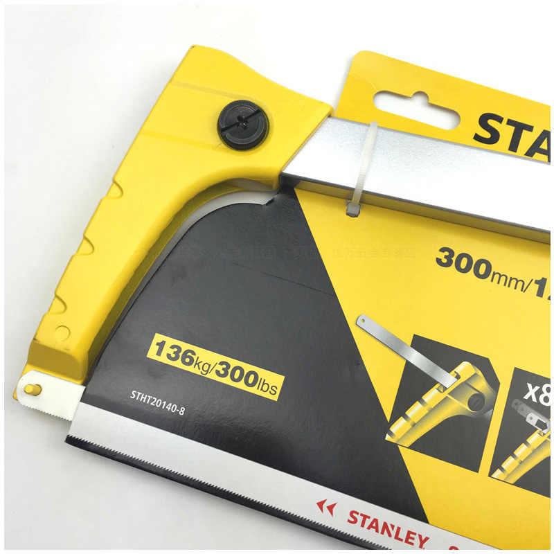 Sierra manual Stanley 1 pieza con Cuchillas de acero de alta velocidad HSS 300mm, sierra de corte de metal de goma para madera, acero, aluminio, plástico, etc.