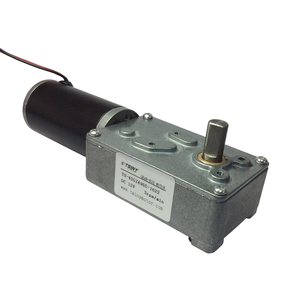 12v DC Low speed 3rpm Electric Worm Gear Motor with Gear Reduction