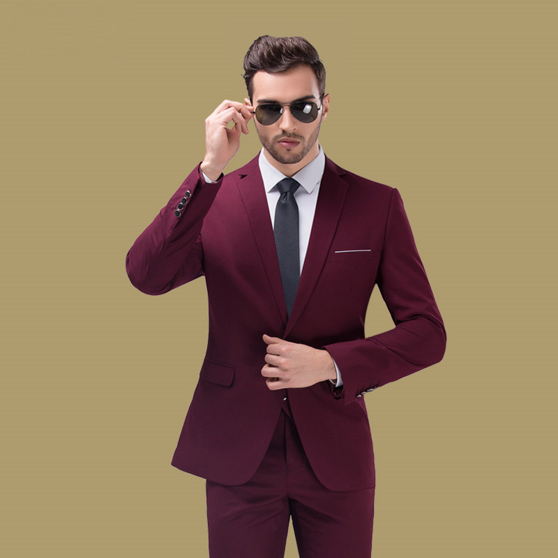 2015 New Arrival Men Colored Suits Slim Fit Single Button Casual ...
