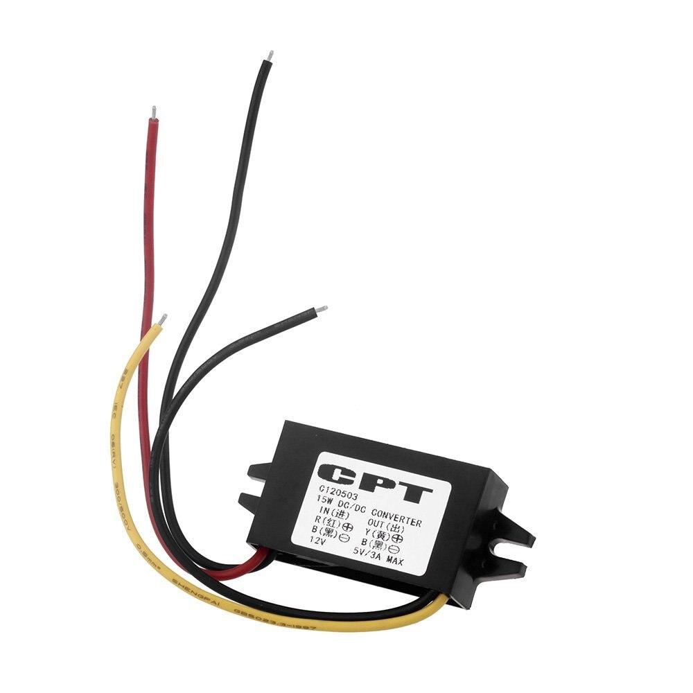 1PCS DC//DC Converter Regulator 12V to 5V 3A 15W Car Led Display Power BU6