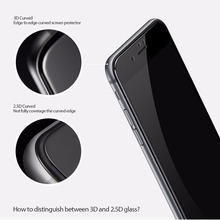 Iphone567/8 / X soft edge of 3 d surface full toughened glass sticker for iphone678splus LanZiGuang prevention wangcangli