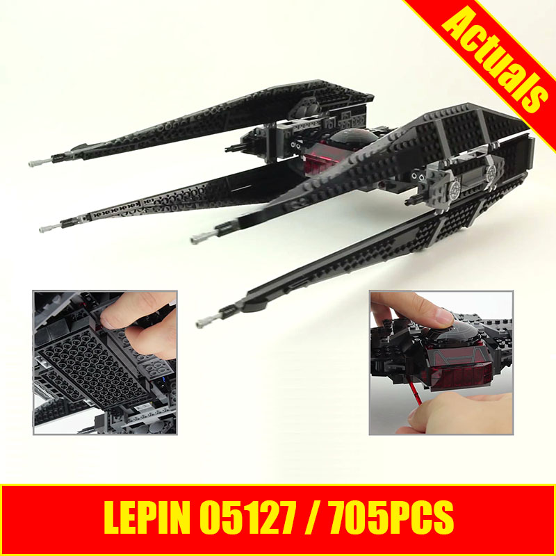 Lepin 05127 The Tie Model Fighter Set 705Pcs Star Plan Series 75179 War Building Blocks Bricks Educational DIY Christmas Gifts