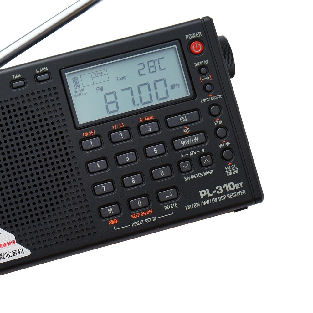 Tecsun PL-310ET Täysi bändi-radio Digitaalinen demodulaattori FM / - Kannettava ääni ja video - Valokuva 4