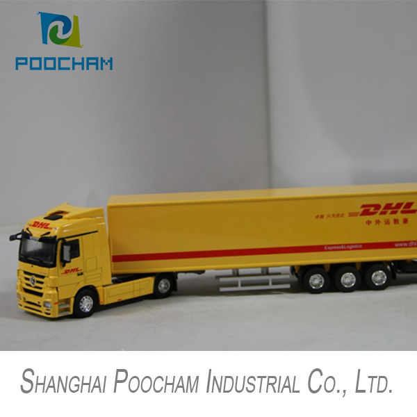 1 50 Dhl Shipping Truck Model Cast Delivery Miniature Benz Metal Scale Large