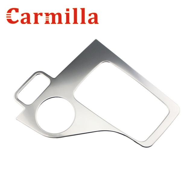 Carmilla Car Inner Gear Panel Stainless Steel Big and Small Panel Refitting Sticker Parts For Ford Everest 2015 2016 2017 Acc.