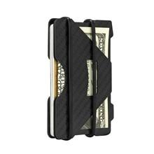Фотография Multiple Function Carbon Fiber Credit Card Case Business Cards Holder ID Wallet With RFID Blocking Wallets Men Travel Cardholder