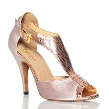 Серый Атлас Для женщин Туфли для латинских танцев Высокий Каблук 8,5 см Бальные Танцы обувь Сальса Самба Танго-квадрат Обувь для танцев