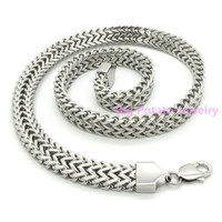 High Quality 13mm Silver Figaro Chain Necklace 316L Stainless Steel For Charming Boys Male Fashion Jewelry