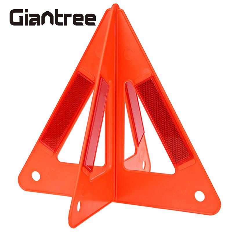 giantree Triangle Reflective Warning Board Automobile Car Hazzard Orangered Foldable Car Breakdown Reflective new reflective traffic warning sign car triangle foldable standing tripod emergency