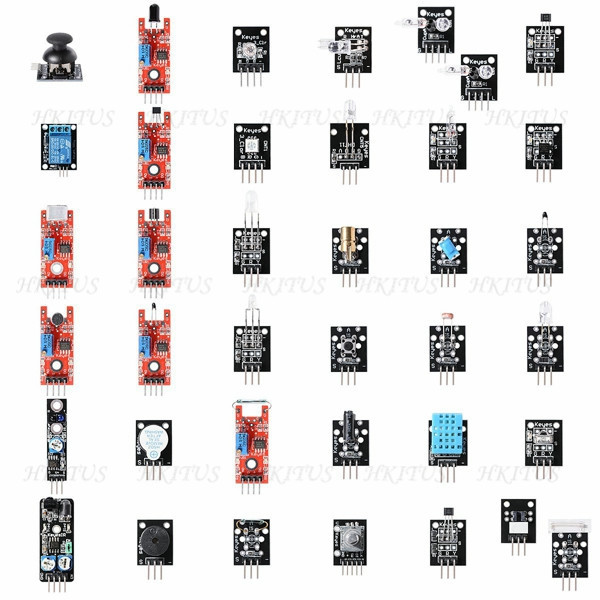 Wholesale High Quality 37 modules 37 in 1 sensor suite UNO sensor kit starter kit for arduino Kit DIY Free Shipping