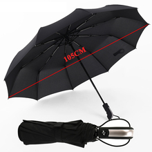 Variety 10 bone fully automatic barrel-folding mens umbrella double folding