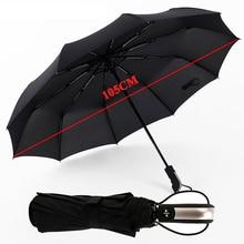 Variety 10 bone fully automatic barrel-folding mens umbrella double folding