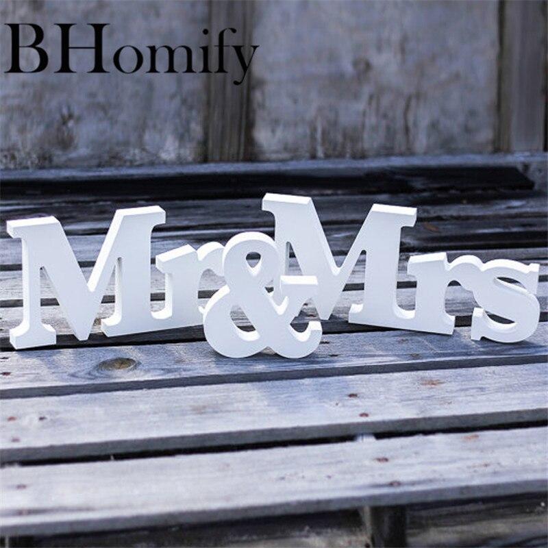 Bhomify комплект из 3 предметов Свадебные украшения S Mr & Mrs Mariage Декор Свадебные украшения Таблица белые буквы свадьба знак Лидер продаж