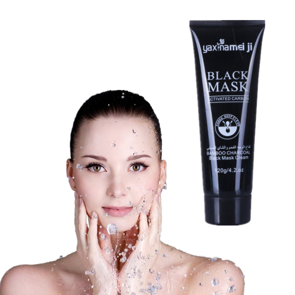Bamboo Charcoal Skin Care Products Women Face Masks Suction Black Head Oil Control Natural Essence Collagen Whitening Mask 120g