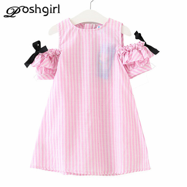 16bf2e10b623 Girls Cotton Dresses Summer Baby Girls Cute Striped Clothing Children's  Clothes Fashion Costume for Kids Little