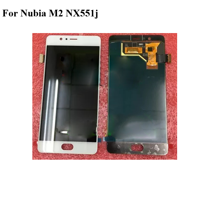 For Nubia M2 <font><b>NX551j</b></font> NubiaM2 LCD Screen 100% Original LCD Display +Touch Screen Assembly Replacement For Nubia M 2 NX 551j image