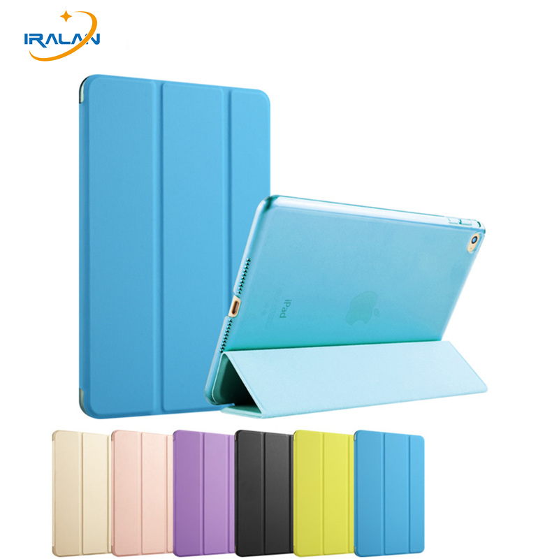 2017 New Case for Apple iPad Air 2 Color PU+Transparent tablet PC Back Ultra Slim Light cover for iPad 6 9.7 inch+stylus+film