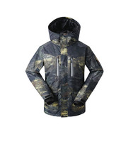 Gsou снег Для мужчин лыжная куртка сноуборд куртка ветрозащитная Водонепроницаемый уличная спортивная одежда Лыжный спорт Сноуборд Костюмы