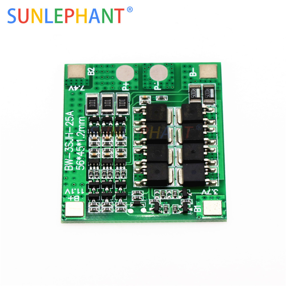 25A 3S Polymer Lithium Battery 18650 Charger PCB BMS Protection Board 3 Serial 12V 3.7 Lipo Li-ion Charging Protection Module25A 3S Polymer Lithium Battery 18650 Charger PCB BMS Protection Board 3 Serial 12V 3.7 Lipo Li-ion Charging Protection Module