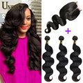 Queen Hair Products With Closure Bundle 3 Bundles Brazilian Body Wave With Closure Peerless Brazilian Virgin Hair With Closure