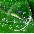 Índice 1.56 apheric superficie súper delgada lentes cr39 lentes de resina miopía película verde lentes de colores para los ojos anti ultravioleta hisper