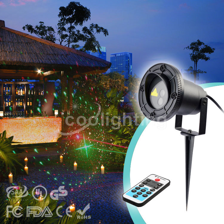 High quality Christmas 8 patterns of red and green lawn lamp remote waterproof courtyard lawn lights laser lights фен remington pro air d5210