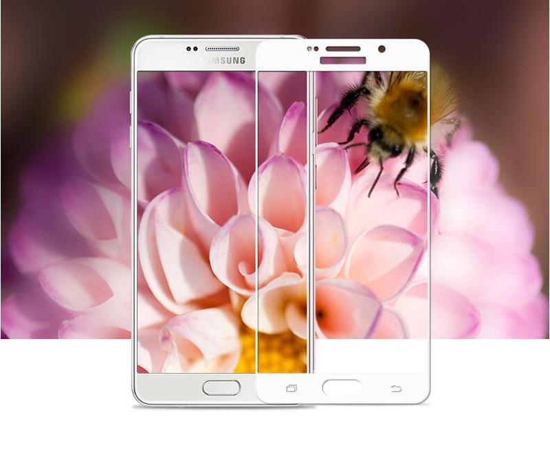 Pełna pokrywa screen protector szkło hartowane dla samsung galaxy s3 s4 s5 note 3 4 5 A3 A5 A7 2016 2017 J5 J7 Prime A8 C5 C7 Pro 5