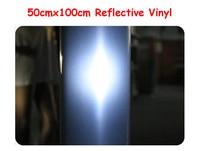 High Quality 50cmx100cm Reflective Light Heat Transfer Vinyl By Heat Press Cutting Plotter T Shirt Print