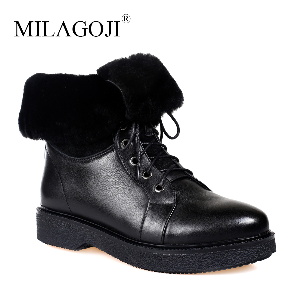 Real Fur Classic Boots Brand shoes Woman Boots Fur Wool shoes snow boots 2018 winter non-slip Comfortable Genuine Leather Boots wool boots fur and leather boots