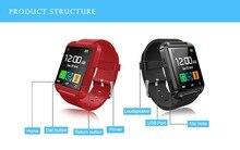 10 teile/los Bluetooth smart uhr U8 Handgelenk smartWatch für Samsung S4/Note2/3 für HTC für LG für Xiaomi Android Phone Smartphones