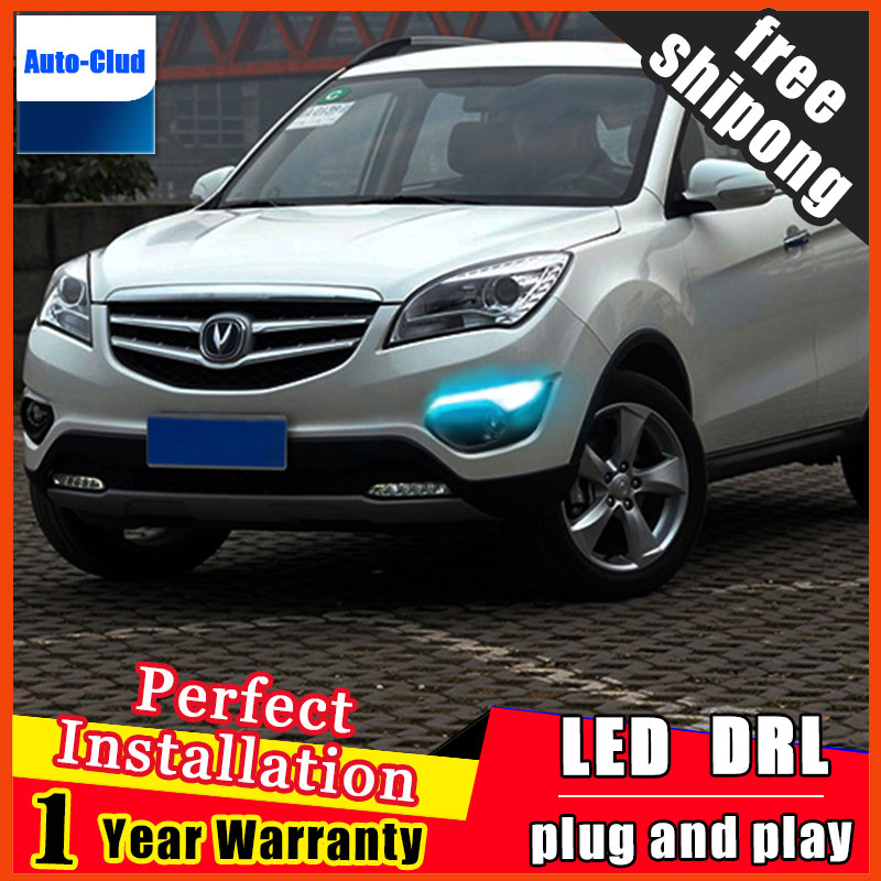 Free Shipping for CHANGAN CS35 Daytime Running Light Fog light High Quality LED DRL fog lamp DRL+Front bumper light 4pcs/set for opel astra h gtc 2005 15 h11 wiring harness sockets wire connector switch 2 fog lights drl front bumper 5d lens led lamp