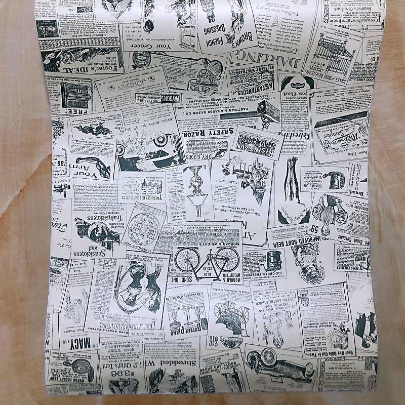 Trova online su westwing carta da parati moderna, vintage e colorata ✓ prezzi scontati ✓ le migliori marche. Retro Stereo Giornale Modello Carta Da Parati Impermeabile Adesivi Murali Auto Adesivo Vintage Adesivi Carta Da Parati 45 100 Centimetri Wall Stickers Aliexpress