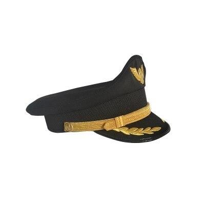 Men Women Cotton Sailor Captain Hat Empty Pilot Uniforms Costume Party Cosplay Stage Perform Flat Navy Military Cap For Adult