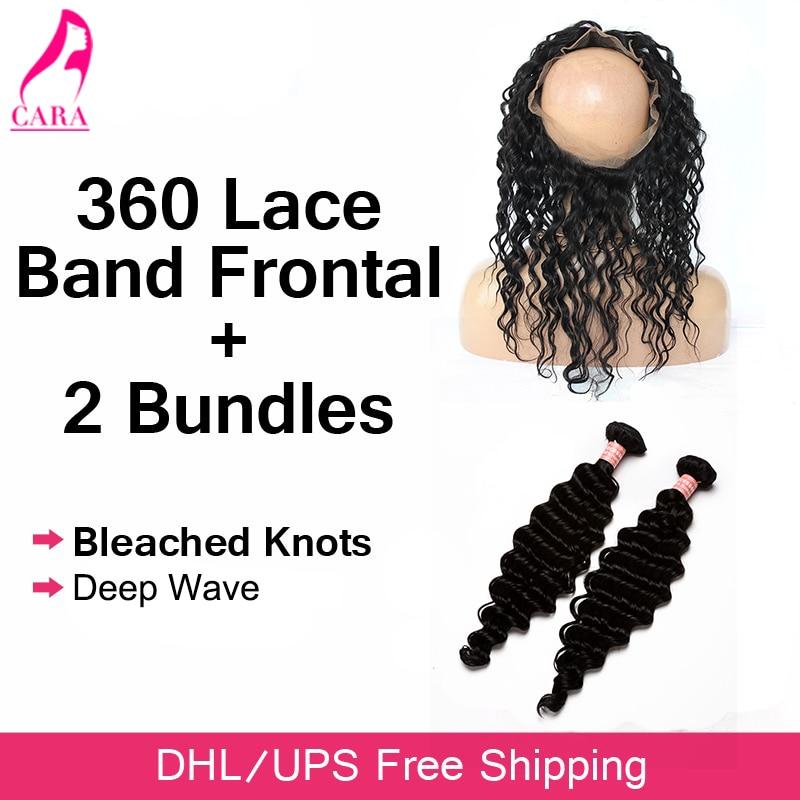 ФОТО Pre Plucked 360 Frontal With Bundles Malaysian Deep Wave With Frontal CARA Human Hair Bundles With Frontal With Baby Hair