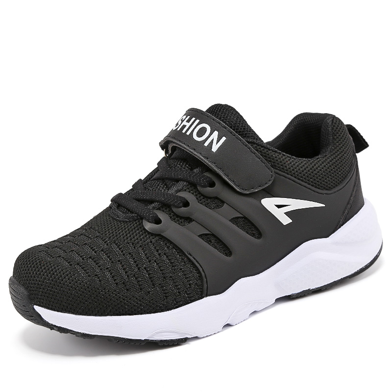 Spring 2018 Designer Kids Sneakers Casual Breathable Mesh Girls Tennis Shoes Krasovki Trainers Sports Black Children Shoes 2017