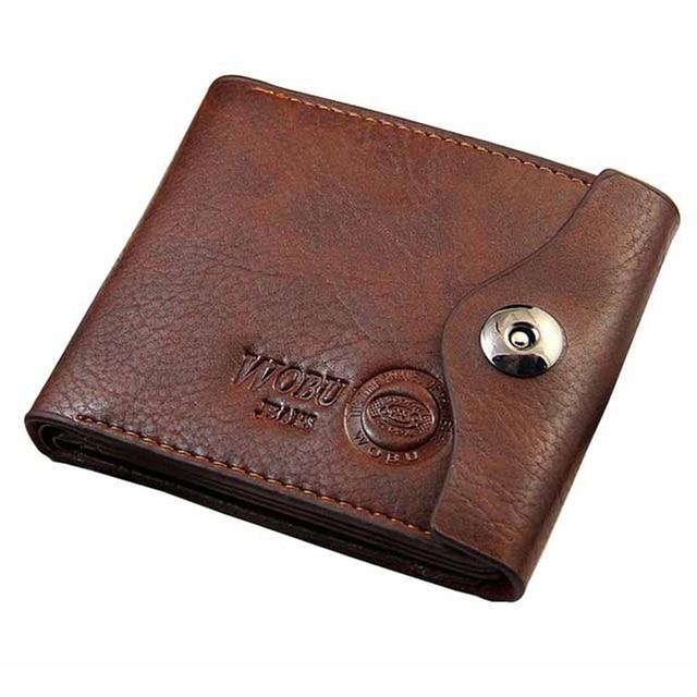 Aliexpress.com : Buy Men Hasp Wallet Leather Purse Trifold ...