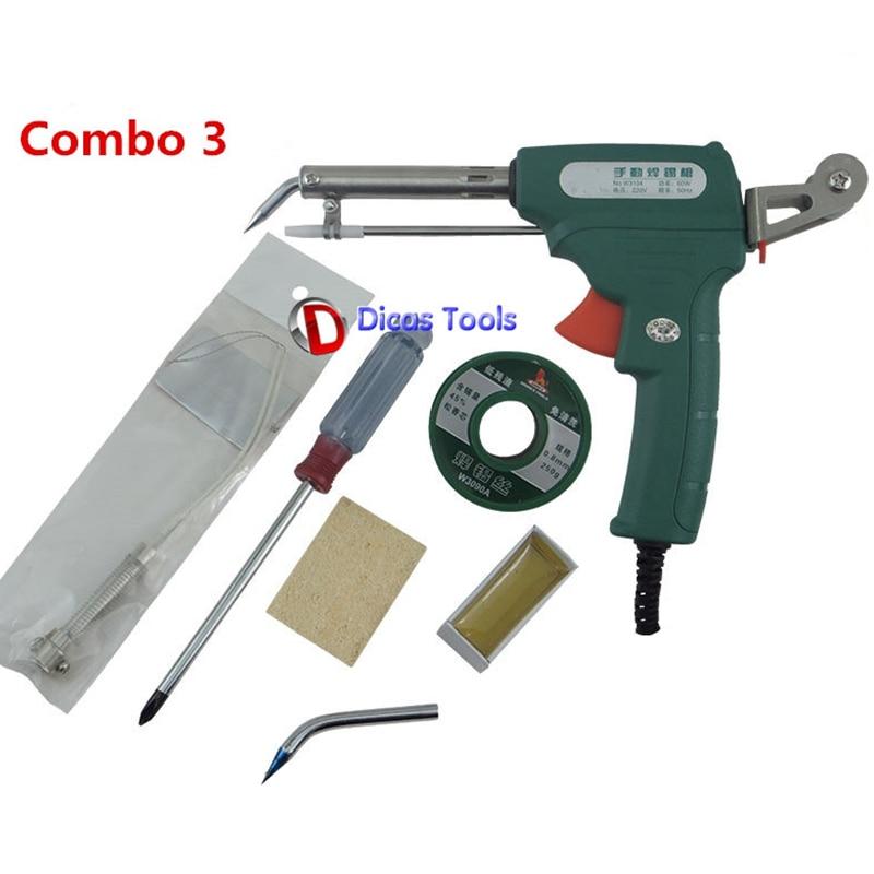60W manual soldering gun automatic solder wire feeding tool ...