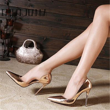 European style fashion shiny personality shoes high heels 2019 new pumps sandals pointed simple party stiletto women's shoes