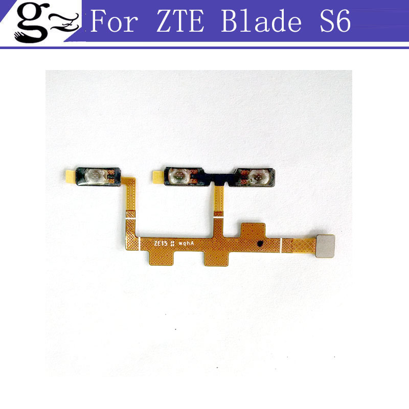For ZTE Blade S6 Power Button Volume Control Key Flex Cable FPC 100% Original Free Shipping With Tracking Number