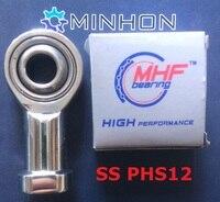 SSPHS12 Rod End Comum Rolamento De Esferas de Aço inoxidável Melhor preço Alto desempenho