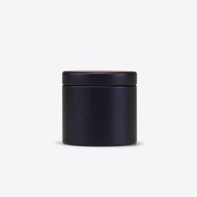 Dia47X45mm Круглый Мини прекрасный чай жестяная коробка Горячая герметичный caddy офисный металлический ящик для хранения коробка 100 шт./лот - Цвет: Carbon Black