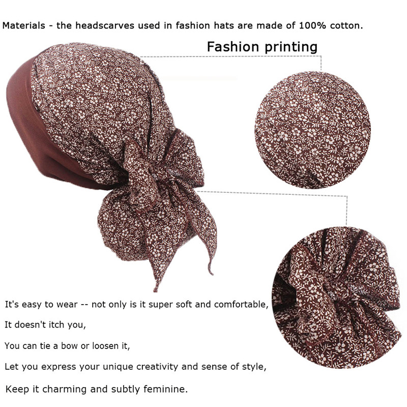 Variety Head Scarves Animal Whale Night Cap Cotton