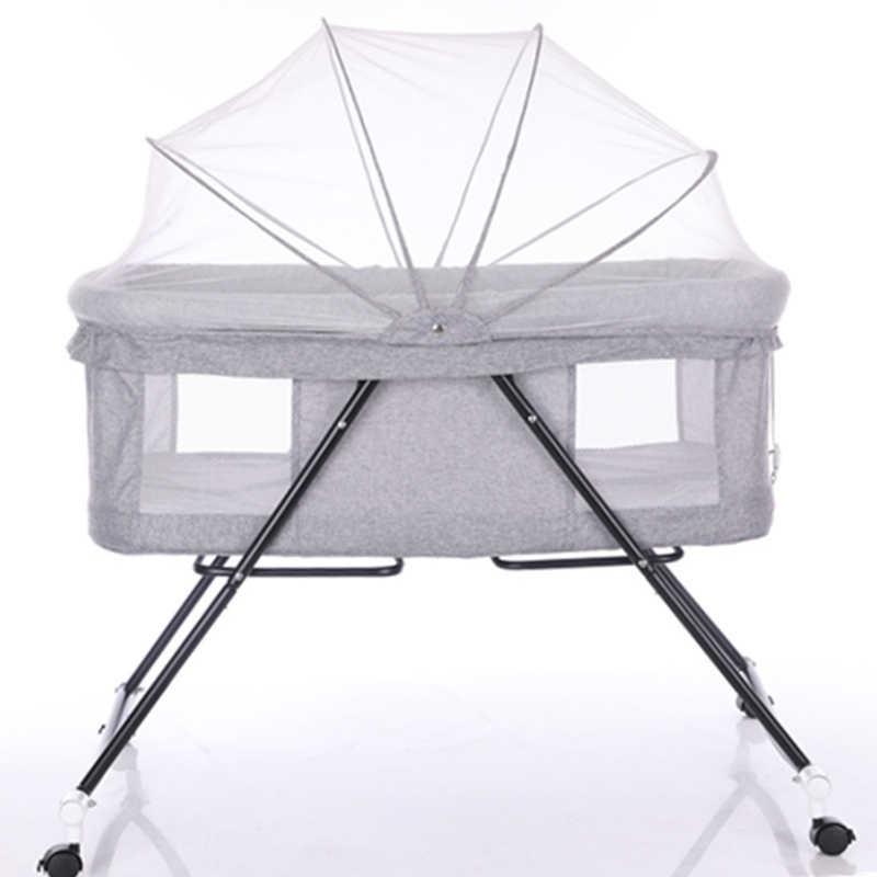 New Multi-function Newborn Crib Folding Portable Baby Rocking Bed Children's Game Bed