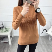 Sweater Female Autumn And Winter 2016 Loose Pullover Short Design Long Sleeve Basic Sweater Thickening Sweater