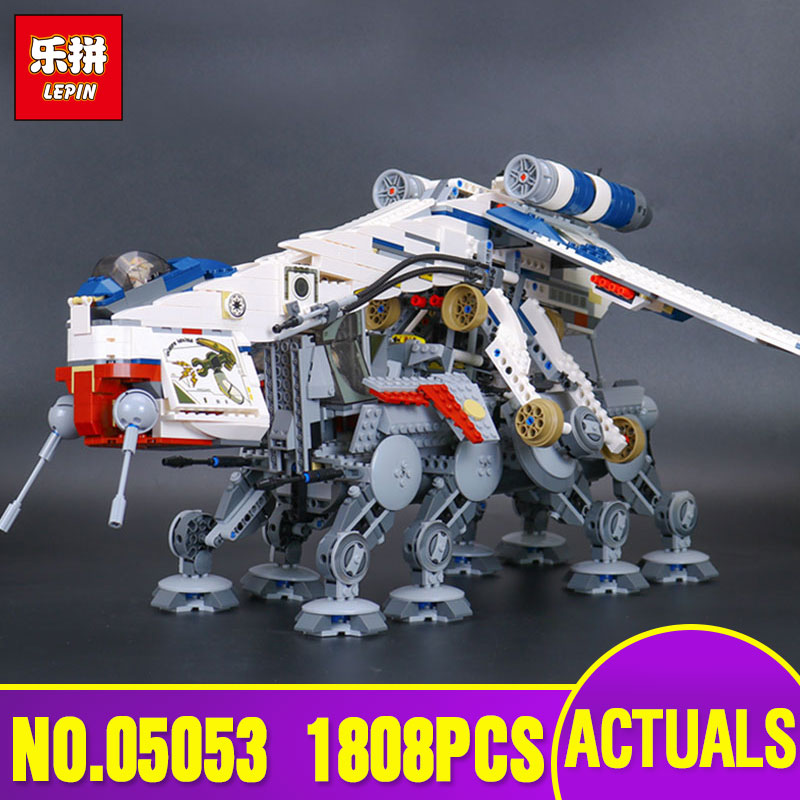 Lepin  05053 1808Pcs Genuine New Star Series War The Republic Dropship Set Building Blocks Bricks Children Toys With 10195 Gifts rollercoasters the war of the worlds